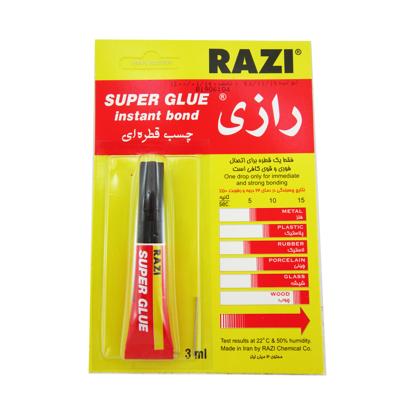 تصویر چسب قطره ای رازی مدل Super Glue حجم 3 میلی لیتر