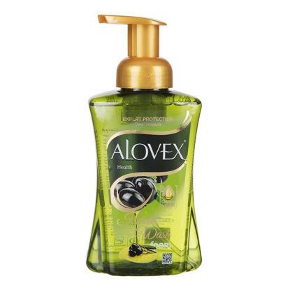 تصویر مایع دستشویی فوم زیتون 500 گرمی آلوکس