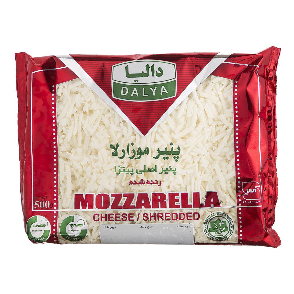 پنیر پیتزا موزارلا رنده شده دالیا 500 گرمی