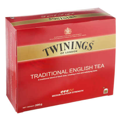 تصویر چای کیسهای سنتی انگلیسی 100 عددی توینینگز