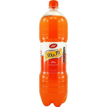 تصویر لاکی دو نوشیدنی گازدار پرتقالی 1/5 لیتری