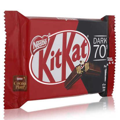 تصویر شکلات کیت کت تلخ 70 درصد