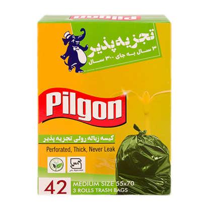 تصویر کیسه زباله 3 رول سایز متوسط (سبز)
