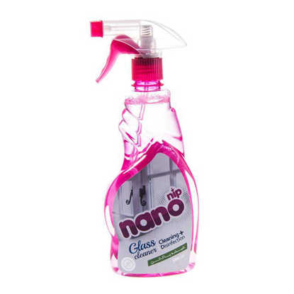 تصویر مایع شیشه پاک کن صورتی نانونیپ