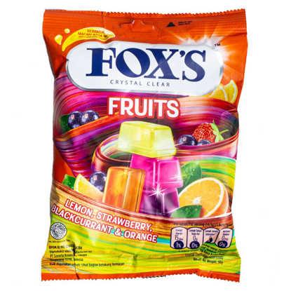 آبنبات شفاف پاکتی میوه ای
