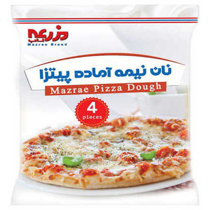 تصویر خمیر پیتزا گرد