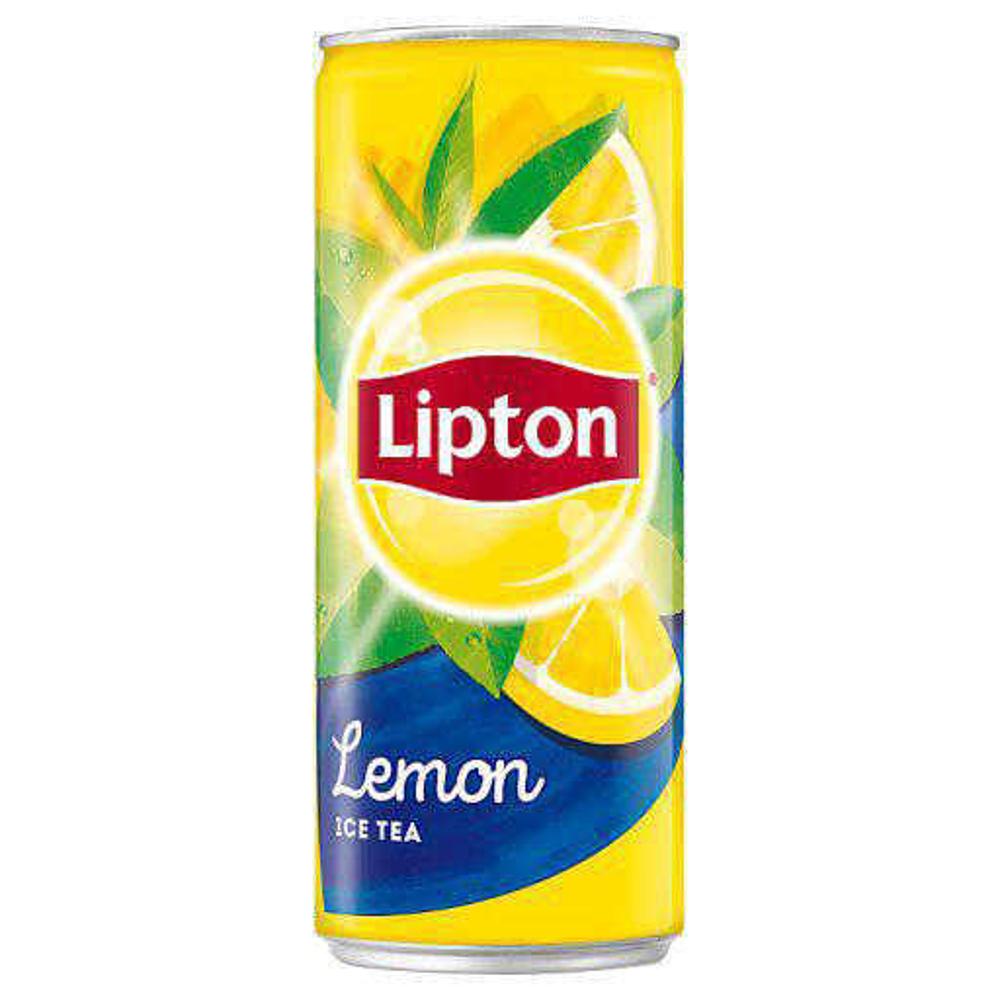 تصویر چای سرد قوطی لیمو