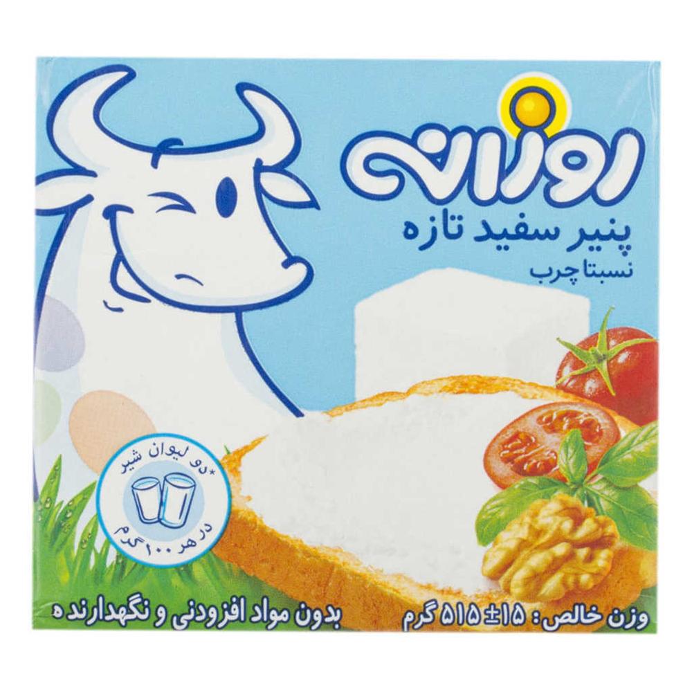 پنیر سفید تازه نسبتا چرب روزانه 515 گرمی