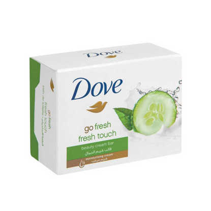 تصویر صابون داو مدل Fresh Touch عصاره خیار و چای سبز 100 گرم