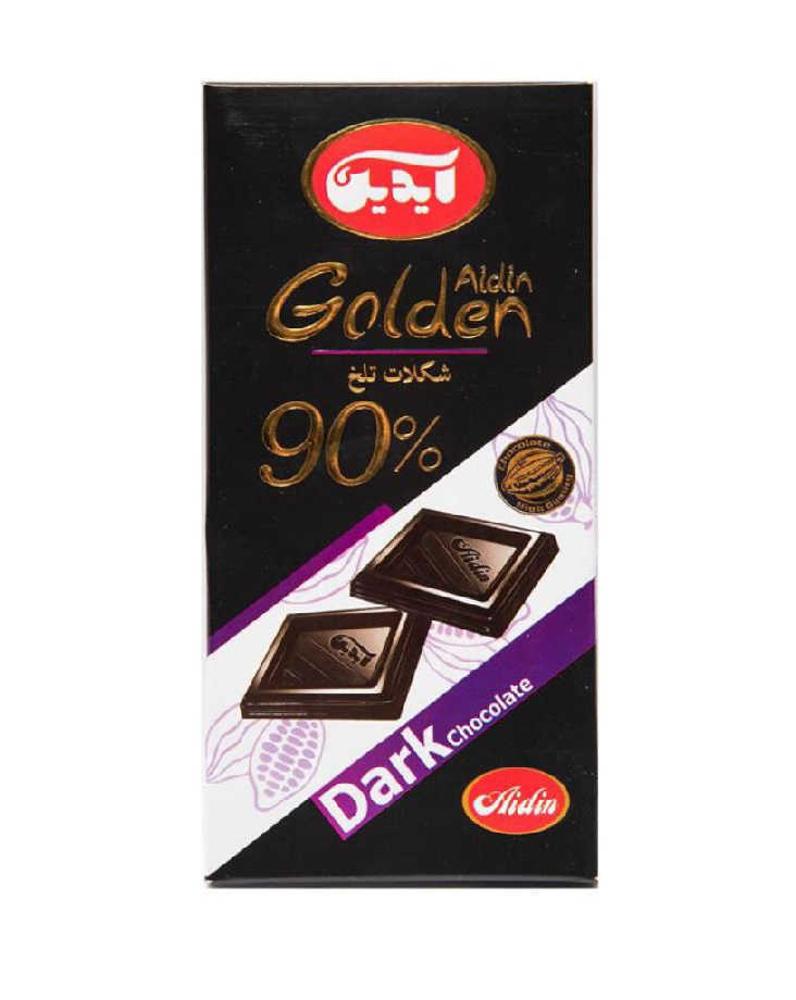 آیدین شکلات تلخ 90درصد 100گرمی