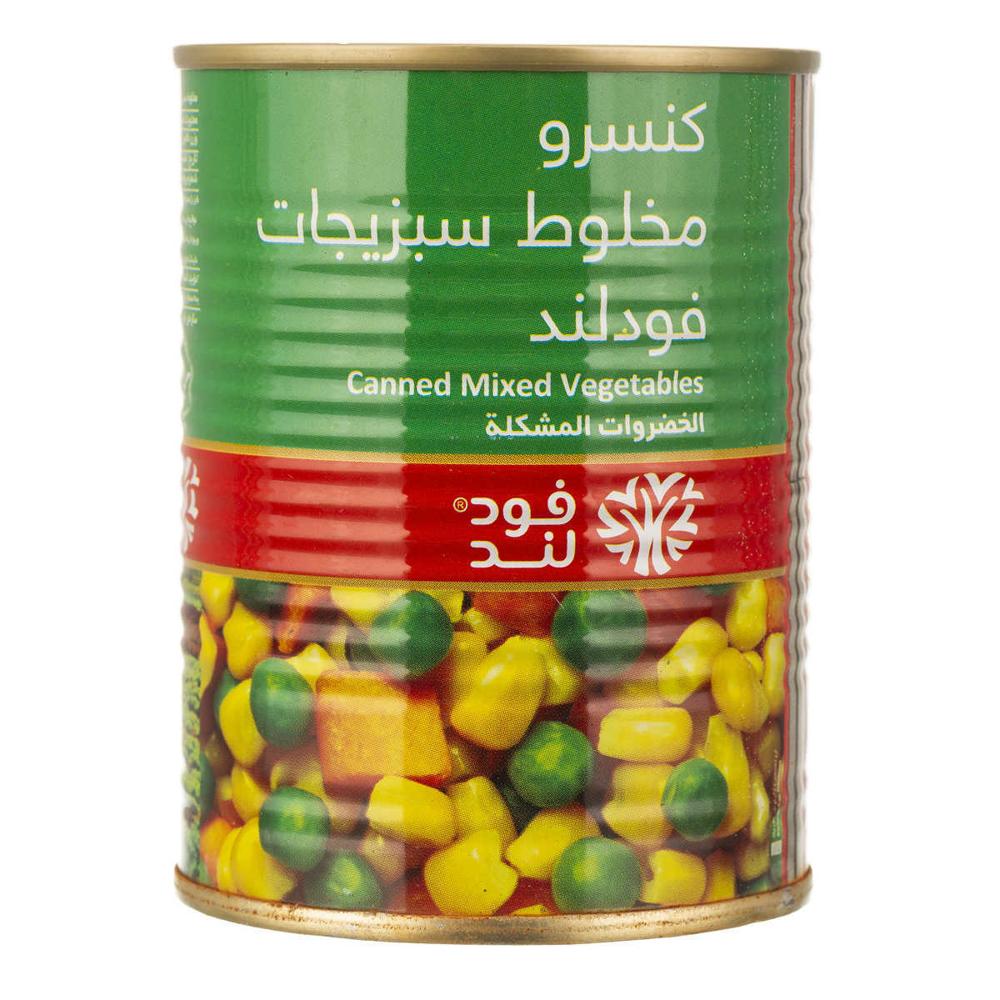 فودلند کنسرو مخلوط سبزیجات 300 گرمی