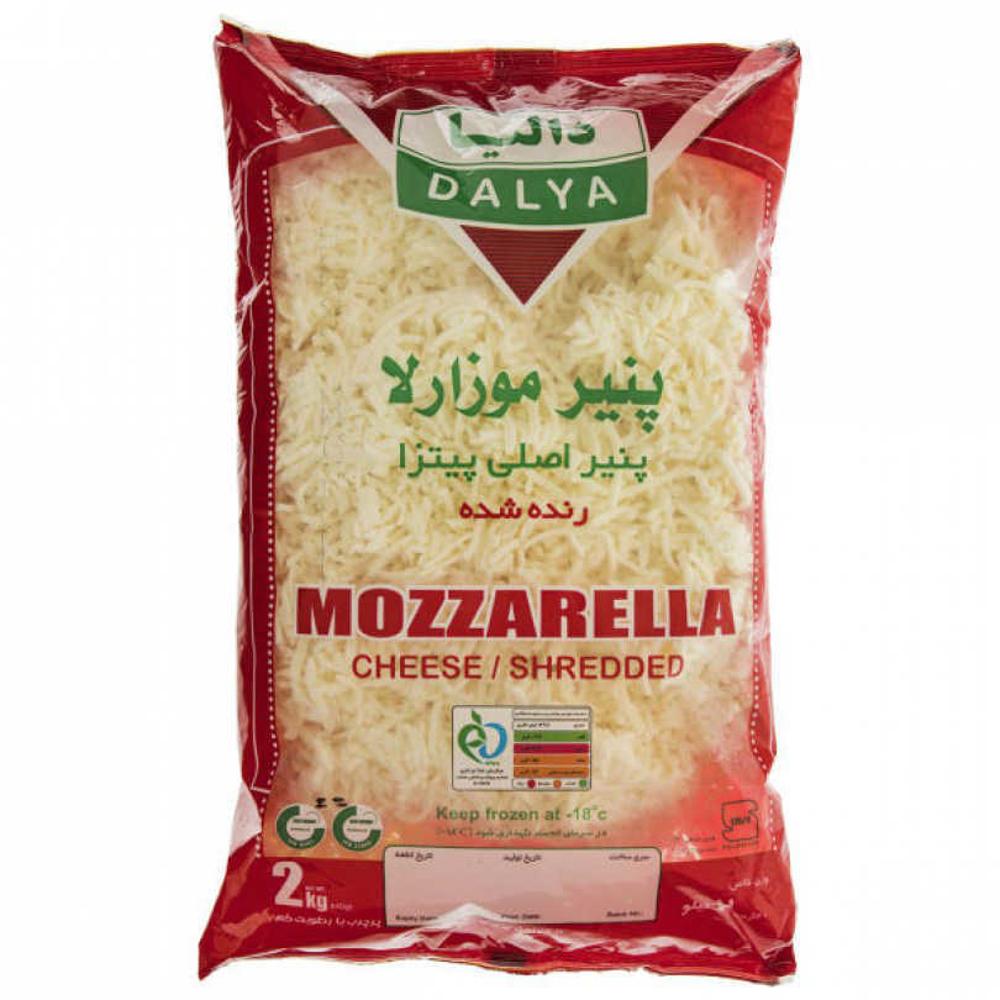 پنیر موزارلا رنده شده دالیا 2 کیلویی