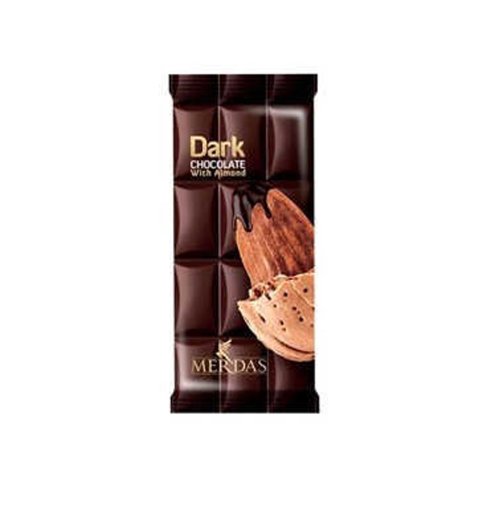 تصویر مرداس شکلات تبلت بادام