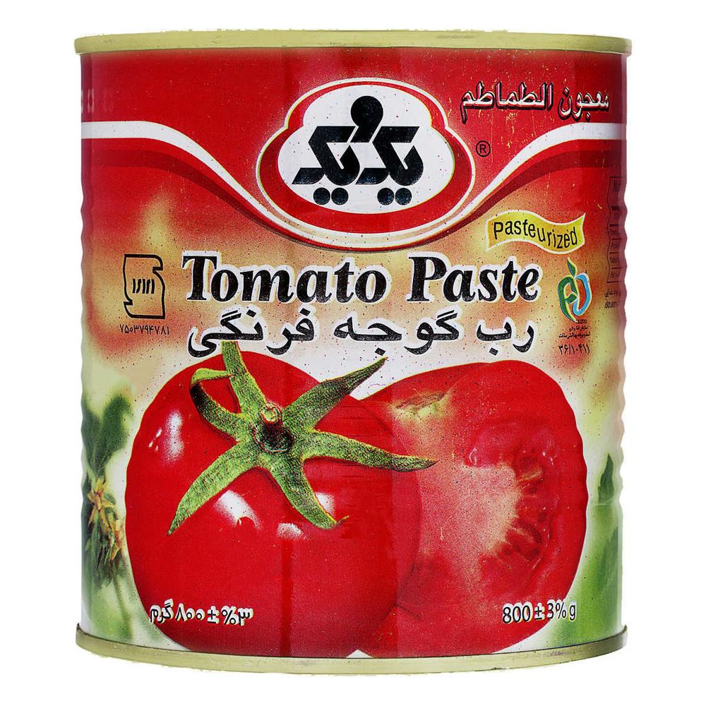 تصویر یک ویک کنسرو رب گوجه فرنگی 800 گرم