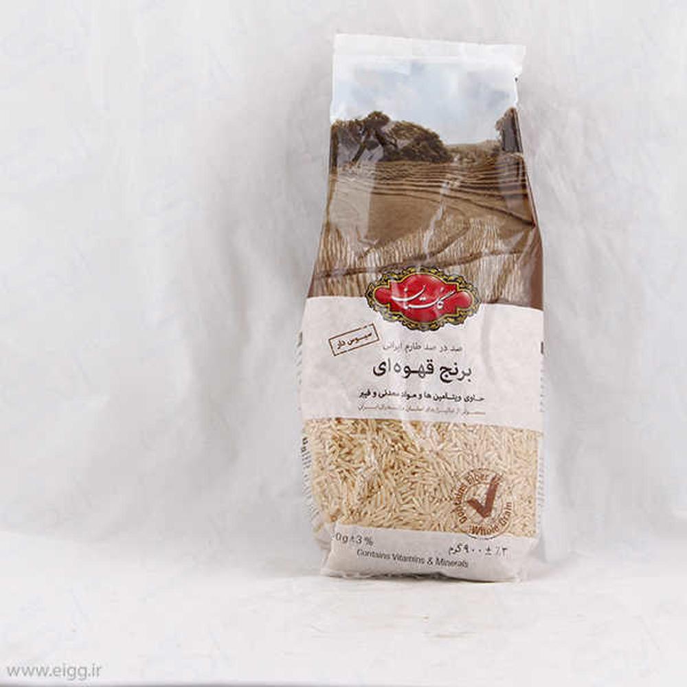 گلستان برنج قهوه ای ایرانی 900گرم