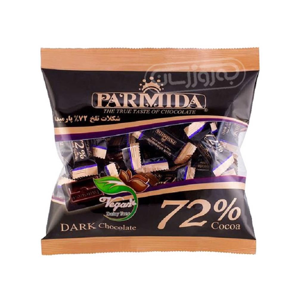 تصویر پامیدا شکلات تلخ 72 %