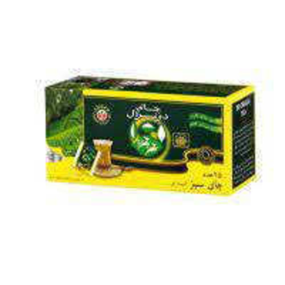 تصویر تی بگ لفافدار 25 عددی عطری سبز
